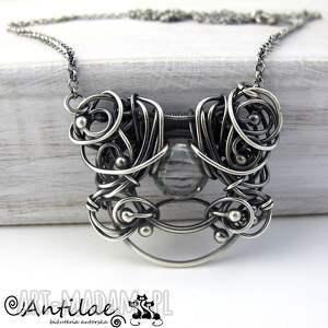 srebrne naszyjniki kwarc pereti - mistyczny, srebro