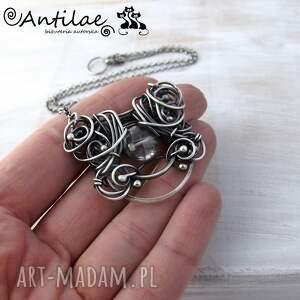 eleganckie naszyjniki kwarc pereti - mistyczny, srebro