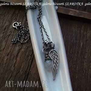 srebro naszyjniki perłowy anioł naszyjnik ze
