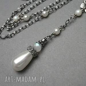 swarovski perłowy kwiatuszek - naszyjnik