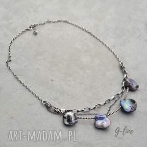 Grey Line project Perłowy naszyjnik - perła srebro