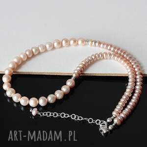 niepowtarzalne naszyjniki perły hodowlane we wrzosach naszyjnik