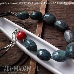niebieskie naszyjniki kyanit pikantnie przyprawiony naszyjnik