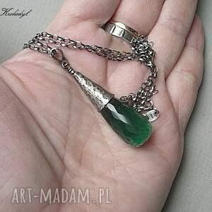 naszyjniki green quartz - naszyjnik
