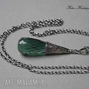 gustowne naszyjniki green quartz - naszyjnik