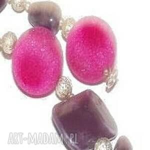 fioletowy naszyjniki porcelana z ametystem