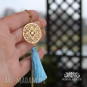 złote naszyjniki rozeta pozłacana arabeska