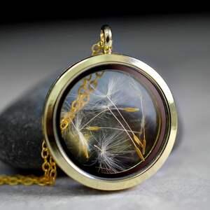 ręczne wykonanie naszyjniki nasiona pozłacany łańcuszek medalion z