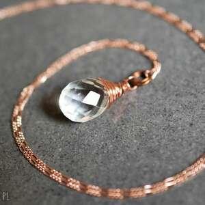 oryginalne naszyjniki perła 925 pozłacany naszyjnik biały