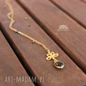 złote naszyjniki piryt pozłacany naszyjnik z rozetką