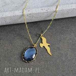 złote naszyjniki kamienie 925 pozłacany srebrny łańcuszek