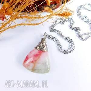 kolorowe naszyjniki prosty arbuzowy wisiorek z jadeitem