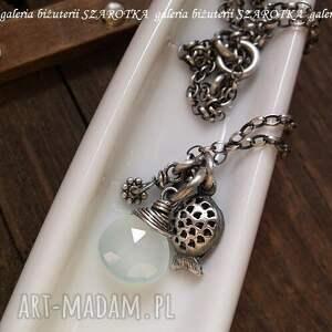 srebro naszyjniki prywatne oczko wodne naszyjnik