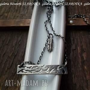 naszyjniki oksydowane przyleciały srebrny naszyjnik