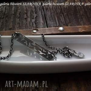 oksydowane naszyjniki przyleciały srebrny naszyjnik