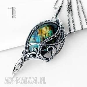 turkusowe naszyjniki srebro ptasie trele srebrny naszyjnik