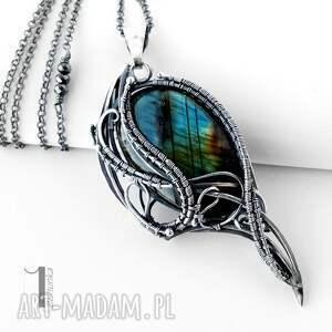 modne naszyjniki wirewrapping ptasie trele srebrny naszyjnik