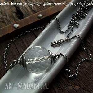 białe naszyjniki kryształ pure naszyjnik z kryształu