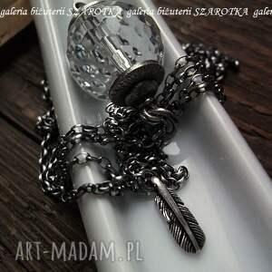 srebro naszyjniki pure naszyjnik z kryształu