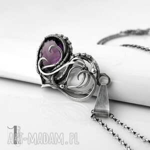 szare naszyjniki naszyjnik-srebrny purple heart ii - srebrne serce