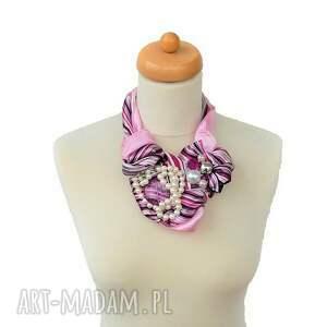 fioletowe naszyjniki naszyjnik purple rain handmade