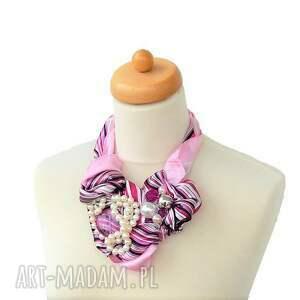 róż naszyjniki purple rain naszyjnik handmade