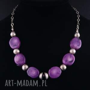 unikalne naszyjniki naszyjnik purplerain, fioletowy