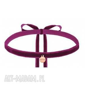 intrygujące naszyjniki choker purpurowy aksamitny