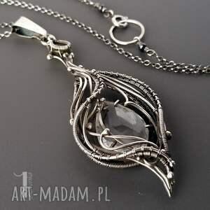 ręcznie zrobione naszyjniki baśniowy ravenna srebrny naszyjnik