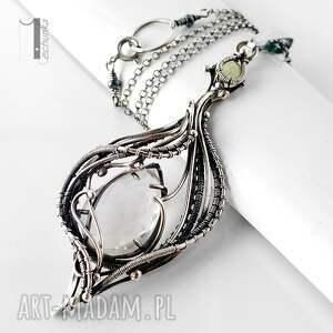 szare naszyjniki naszyjnik ravenna srebrny