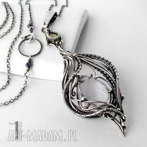 srebro naszyjniki białe ravenna srebrny naszyjnik
