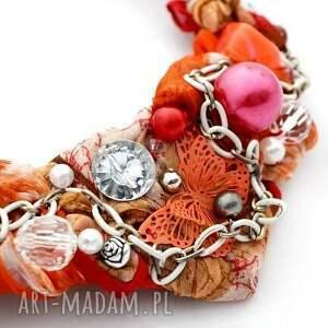 hand made naszyjniki naszyjnik red y handmade