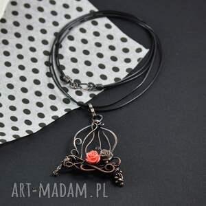 naszyjniki biżuteria-z-miedzi romantic cage- naszyjnik