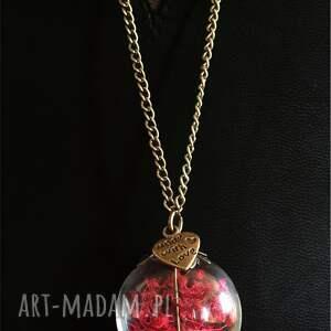 oryginalne naszyjniki naszyjnik romantyczna czerwień - z