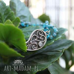 jaspis naszyjniki srebrne romantyczna rozeta