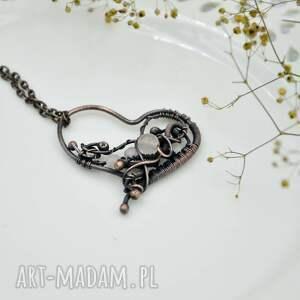 naszyjnik serce rose heart - romantyczny