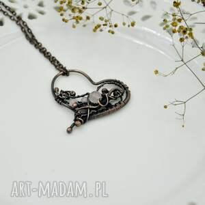 naszyjniki kwarc różowy rose heart - naszyjnik romantyczny