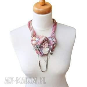 różowe naszyjniki naszyjnik rouge fairytale handmade