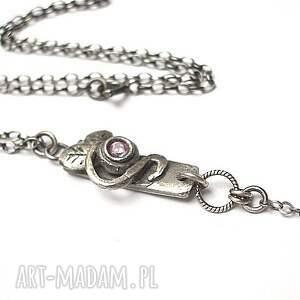 hand made naszyjniki srebro różany -naszyjnik