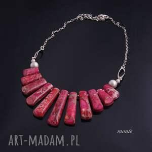 wyjątkowe naszyjniki naszyjnik różowy pióropusz,