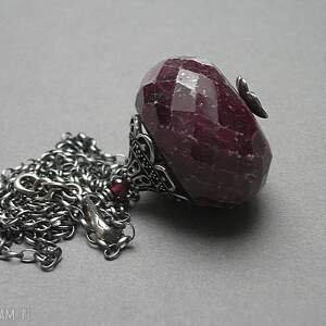 ręcznie zrobione naszyjniki rubin gigant - naszyjnik