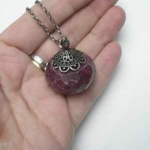 naszyjniki rubin naszyjnik wykonany ze srebra pr. 925