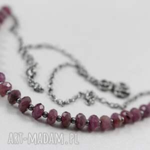 modne naszyjniki rubin rubiny i srebro - naszyjnik