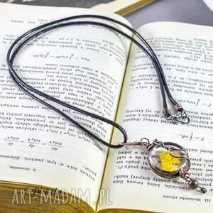 brązowe naszyjniki terrarium runo - naszyjnik z prawdziwymi