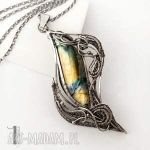 srebrne naszyjniki srebrny sansewieria naszyjnik z