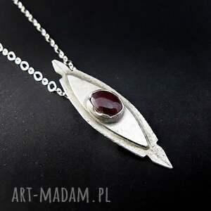 urokliwe naszyjniki rubin sardiyos - srebro, naszyjnik