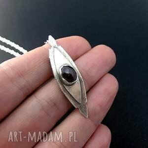 srebro naszyjniki sardiyos - rubin - naszyjnik