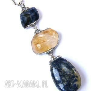 handmade naszyjniki długi-naszyjnik secesyjny wisior z łańcuszkiem: