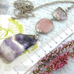 unikalne naszyjniki kamienie-naturalne secesyjny wisior z łańcuszkiem: