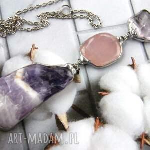 długi-naszyjnik naszyjniki fioletowe secesyjny wisior z łańcuszkiem: